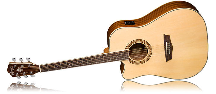 Wasburn WD10SCELH Left Handed Acoustic Guitar