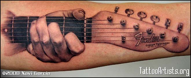 Awesome Fender Guitar Tattoo