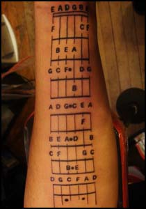 Guitar Fretboard Tattoo