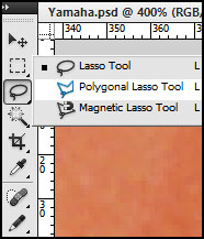 Select The Polygonal Lasso Tool