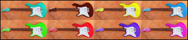 Left Handed Guitar Colors