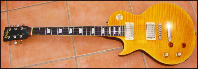 Vintage Icon V100 Lemon Drop Guitar Review