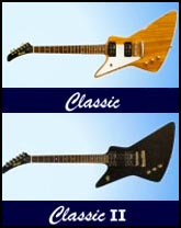 Gaskell Classic and Classic II Left Handed Explorer Guitars