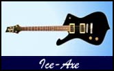 Gaskell Ice-Axe Iceman Left Handed Guitar Lefty