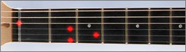 FretLight Guitar Showing a D-Major Chord