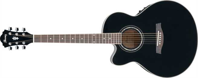 Ibanez AEL10LEBK Left Handed Acoustic Guitar Lefty
