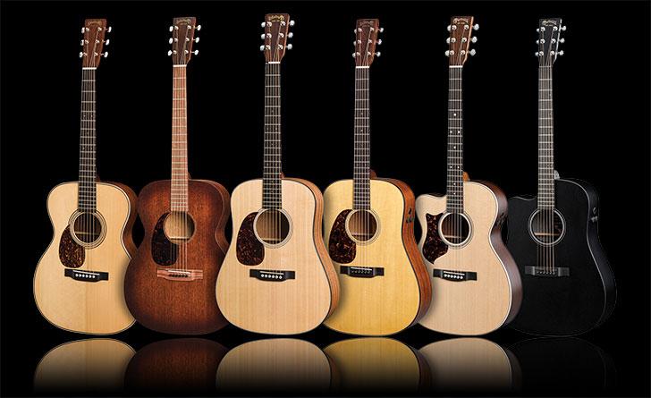 Martin Left Handed Acoustic Guitars