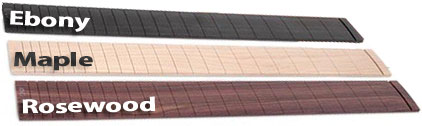 Ebony, Maple and Rosewood Fretboards Fingerboard Guitar