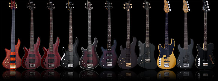 Schecter Left Handed Bass Guitars