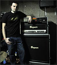 Paulo Morete Cesar Lopez and his Bogner Amp Rig