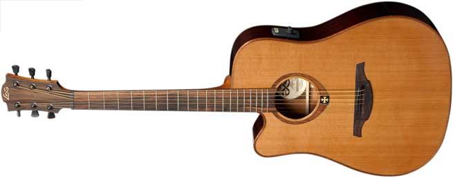 LAG TL100DCE Left Handed Acoustic Guitar Lefty