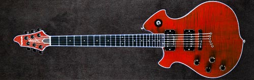 Mensinger Left Handed Arcadia Custom Guitar Build