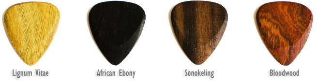 Timber Tones Electric Guitar Picks Wooden