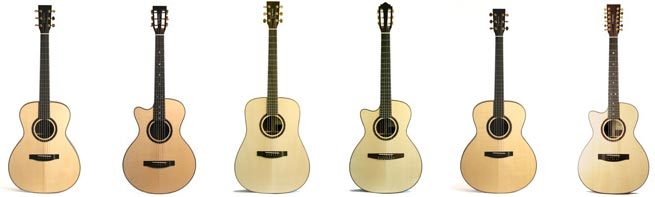 Lakewood Deluxe Series Left Handed Acoustic Guitars Lefty
