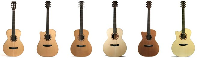 Lakewood Natural Series Left Handed Acoustic Guitars Lefty