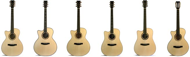 Lakewood Premium Series Left Handed Acoustic Guitars Lefty