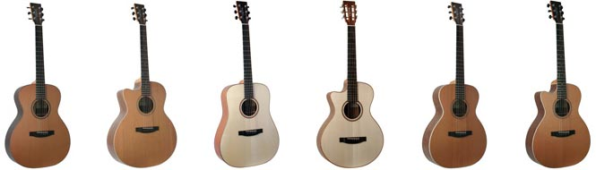 Lakewood UK Series Left Handed Acoustic Guitars Lefty