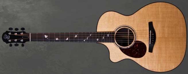 Patrick James Eggle Linville Cutaway Left Handed Acoustic Guitar Lefty