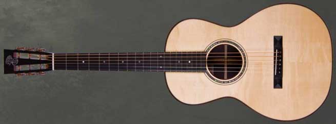 Patrick James Eggle Parlour Left Handed Acoustic Guitar Lefty
