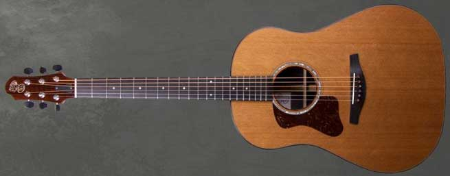 Patrick James Eggle Kanuga Left Handed Acoustic Guitar Lefty