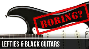 Black Guitars – The Scourge of the Left Handed Guitarist?