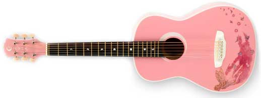 Luna Aurora Faerie Mini 3/4 Left Handed Acoustic Guitar Lefty