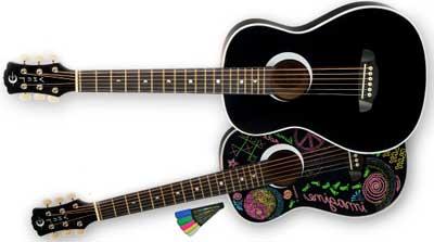 Luna Aurora Imagine 3/4 Left Handed Acoustic Guitar Lefty