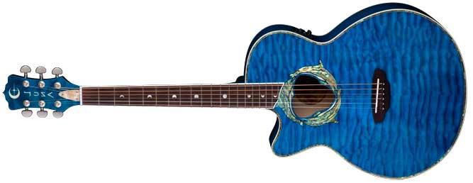 Luna Fauna Dolphin Left Handed Acoustic Guitar Lefty