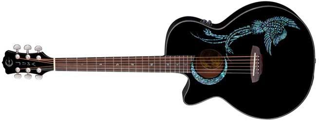 Luna Fauna Phoenix Left Handed Acoustic Guitar Lefty
