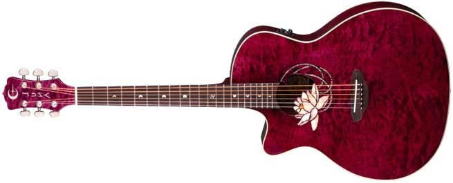 Luna Flora Lotus Left Handed Acoustic Guitar Lefty
