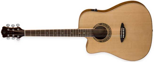 Luna Muse Quilted Ash Left Handed Electro-Acoustic Guitar Lefty