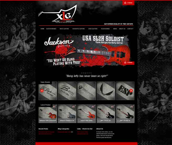 Xtreme Lefty Guitars Website