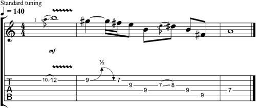 Free left handed guitar lick lesson tom richardson