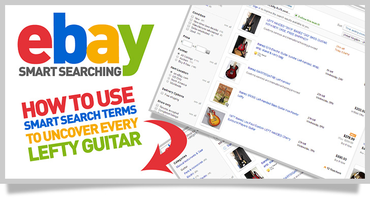 How to find left handed guitars on ebay