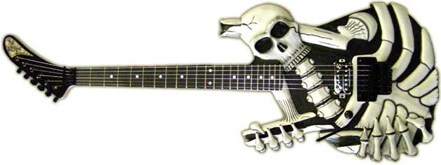 X-ray-guitars-skull-bones-left-handed-guitar-dokken-lynch-mr-scary