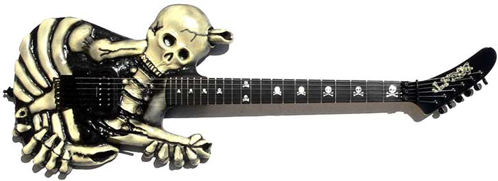George Lynch Skull Bones Guitar Halloween Frog