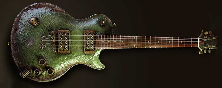 Hutchinson Nurgle Steampunk Guitar Halloween