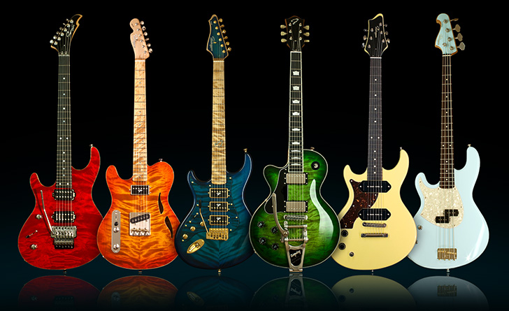 Left Handed Ruokangas Guitars