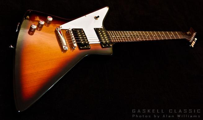 Gaskell Classic I Left Handed Explorer Guitar Lefty