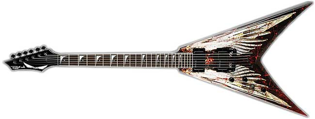 Dean Dave Mustaine VNMT Angel of Deth left handed guitar lefty death