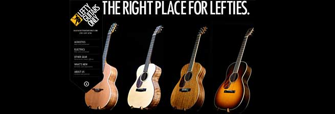 Lefty Guitars Only Left Handed Store