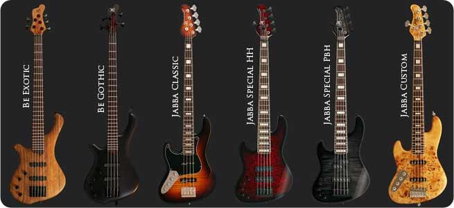 Mayones Be Jabba Left Handed Bass Guitars Lefty
