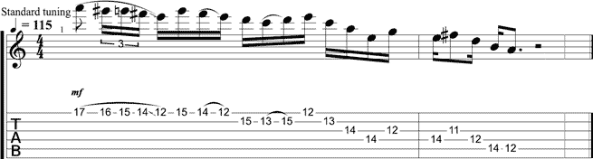 Lick of the Week 21 guitar tab free lesson tom richardson