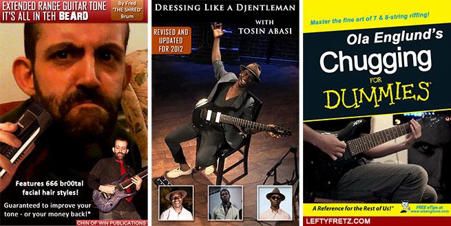 Fred Brum Ola Englund Tosin Abasi books funny guitar