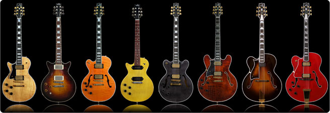 Heritage left-handed electric guitars lefty southpaw gibson