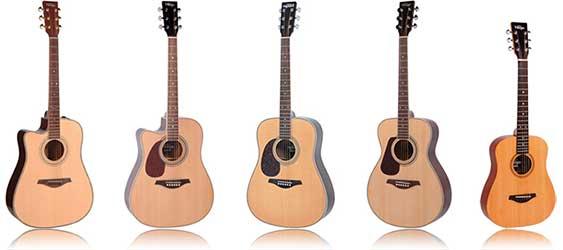 Vintage Left Handed Acoustic Guitar JHS Lefty