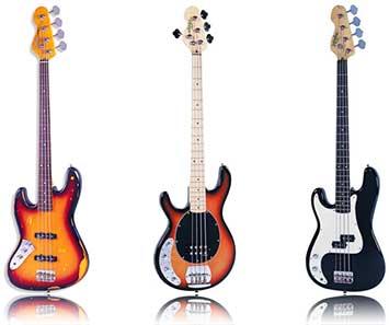 Vintage Left Handed Bass Guitar JHS Lefty