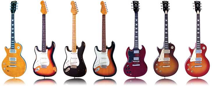 Vintage Left Handed Electric Guitar JHS Lefty