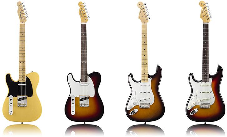 Fender american vintage left tele strat guitar