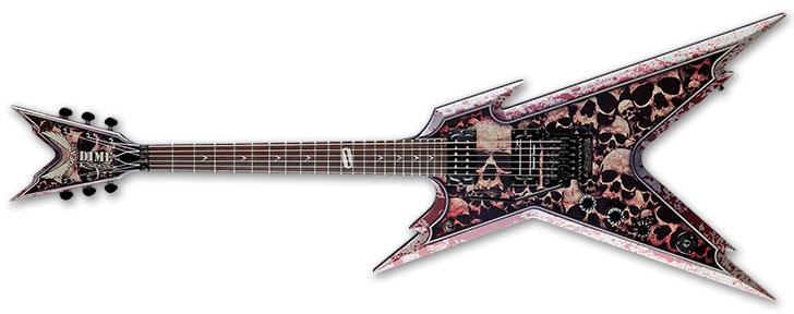 Dean Razorback Skulls Left Handed Guitar